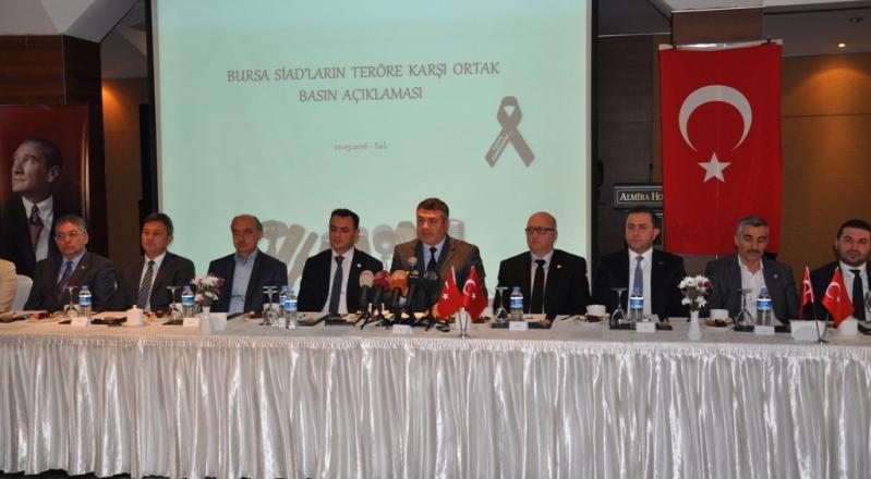 Bursa'daki SİAD'lar Teröre Karşı Ortak Ses Verdi