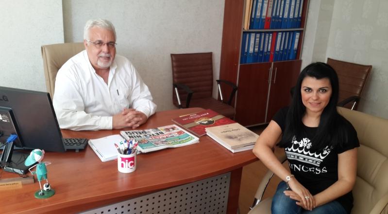 A Gazete Köşe Yazarı Osman Gürçay'ı Ziyaret Ettik.