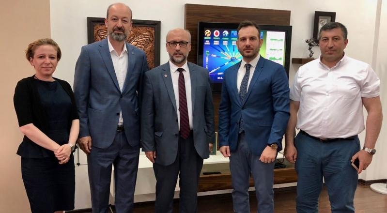 Saadet Partisi Bursa İl Başkanı İsmail Özdemir BİSİAD'ı Ziyaret Etti.